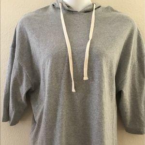 Zara Trafaluc soft grey oversized hoodie med